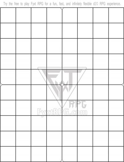Printable Battle Mat Template - FyxtRPG com | DriveThruRPG com