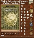 Online Gaming Tokens Pack #7: Constructs, Elementals, & Fey