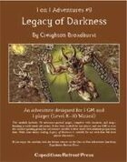 1 on 1 Adventures #9: Legacy of Darkness for Fantasy Grounds