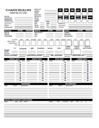 Character Data Sheet