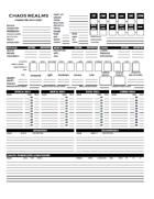 Character Data Sheet