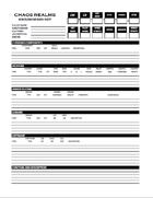 Robot Data Sheet