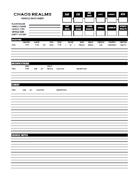 Vehicle Data Sheet