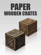 3D Paper Wooden Crates | Papercraft objects and paper miniatures