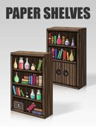 3D Paper Shelves | Papercraft objects and paper miniatures