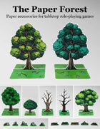 The Paper Forest | Paper accessories for tabletop RPGs
