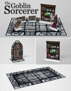 The Goblin Sorcerer | Paper Model Diorama for Tabletop RPGs