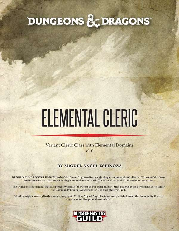 Elemental Cleric (5E) - Dungeon Masters Guild | Dungeon
