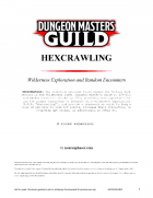 Hexcrawling: Wilderness Exploration and Random Encounters