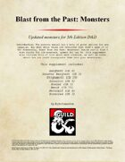 Blast from the Past: Monsters