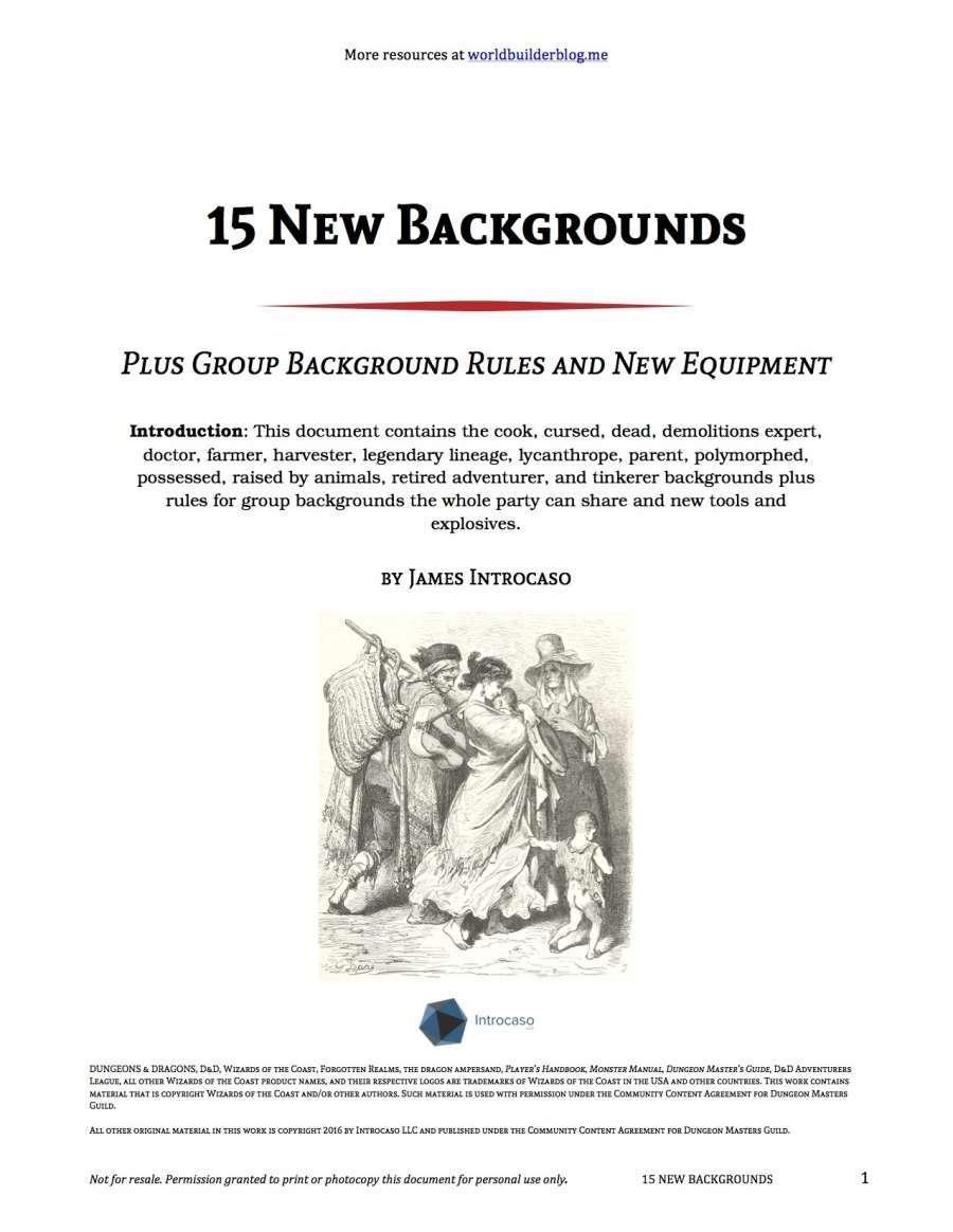15 New Backgrounds - World Builder Blog Presents