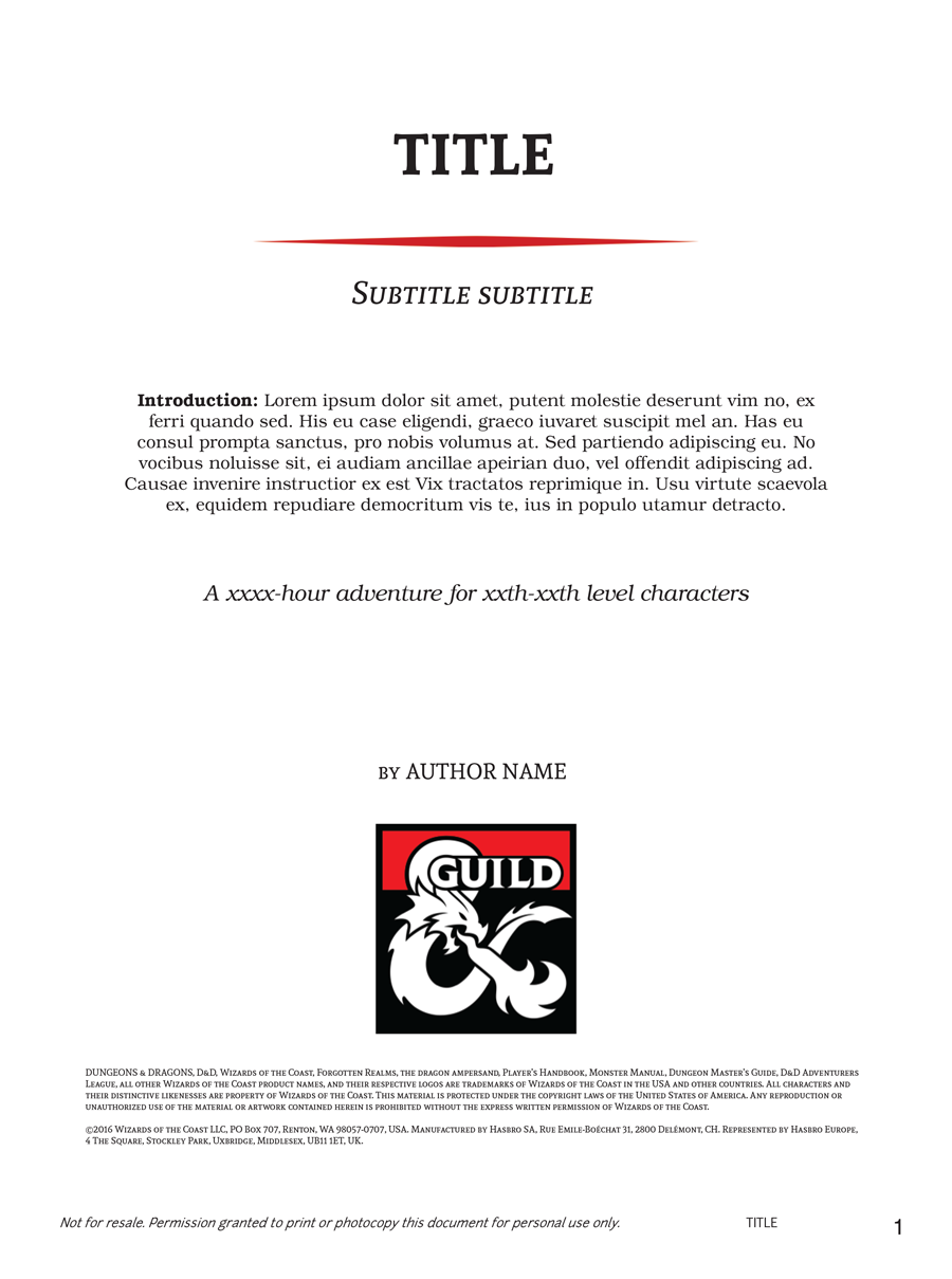 Adventure Template for Scrivener - Dungeon Masters Guild | Dungeon ...
