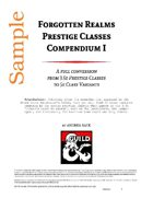 Forgotten Realms Prestige Classes Compendium 1 - (SAMPLE)
