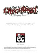 D&D 5e Player Cheet Sheet