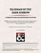 Talisman of the Dark Sorrow