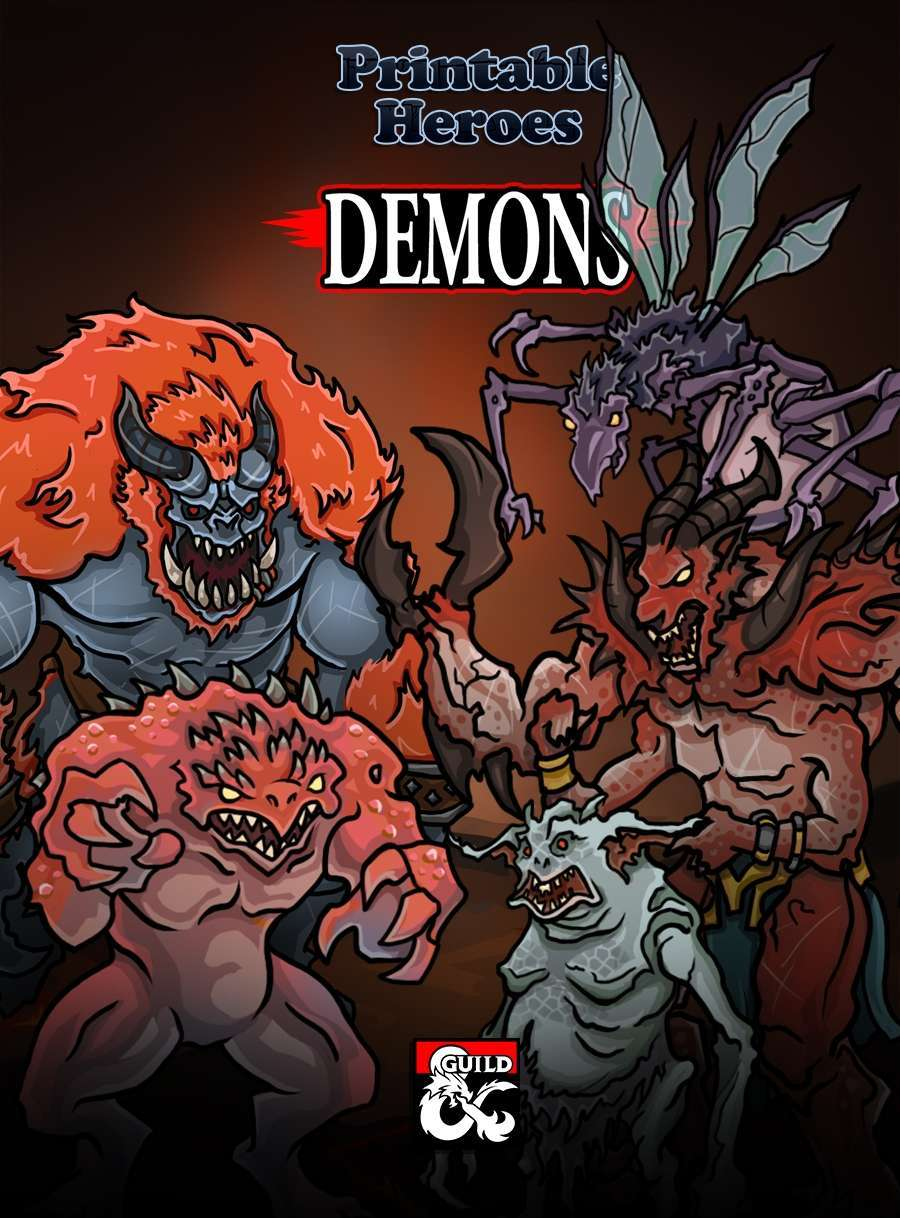 Demon Paper Miniatures - Dungeon Masters Guild | Dungeon