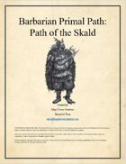 MTC - Barbarian Primal Path: Path of the Skald