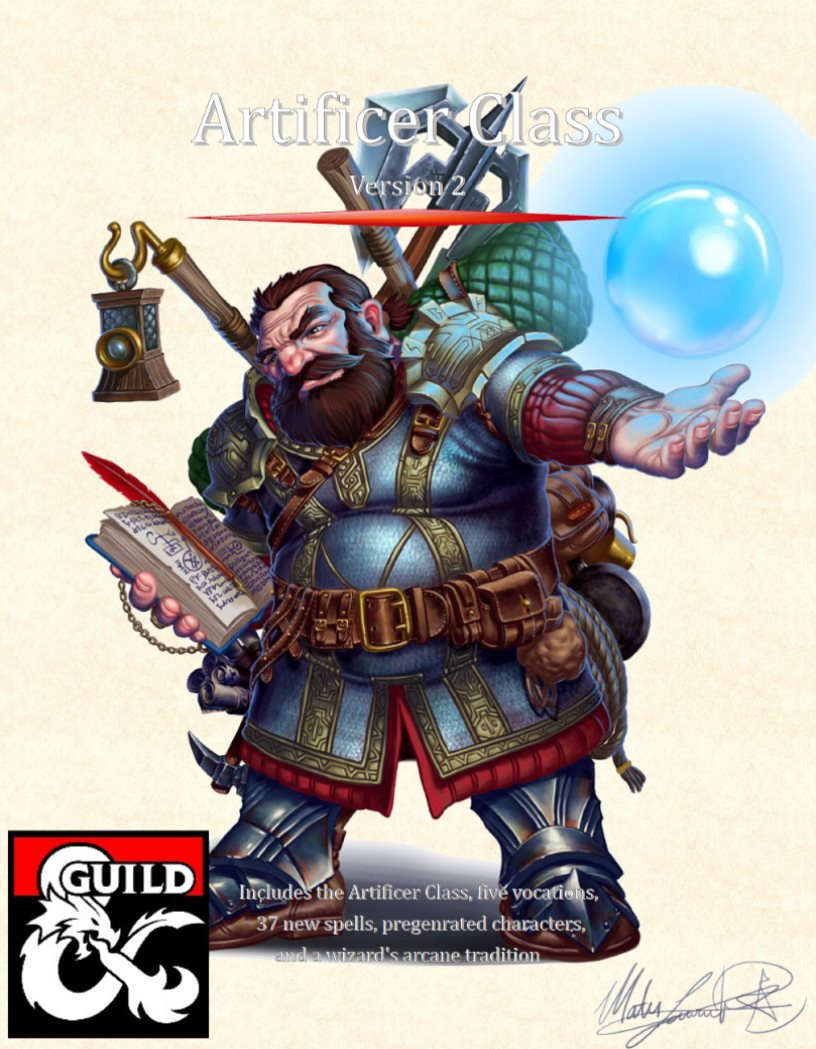 Artificer Class 5e Dungeon Masters Guild Dungeon Masters Guild