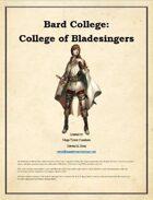 MTC - Bard College: College of Bladesingers