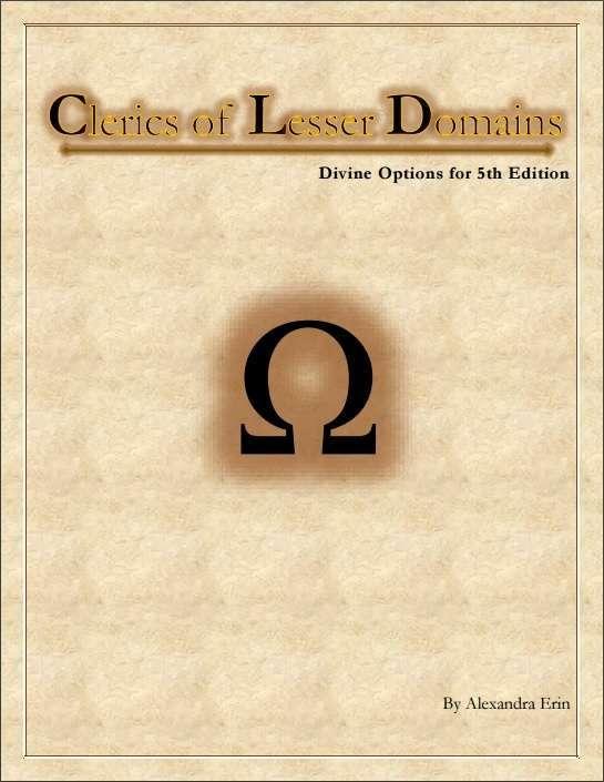 Clerics of Lesser Domains - Dungeon Masters Guild   DriveThruRPG com