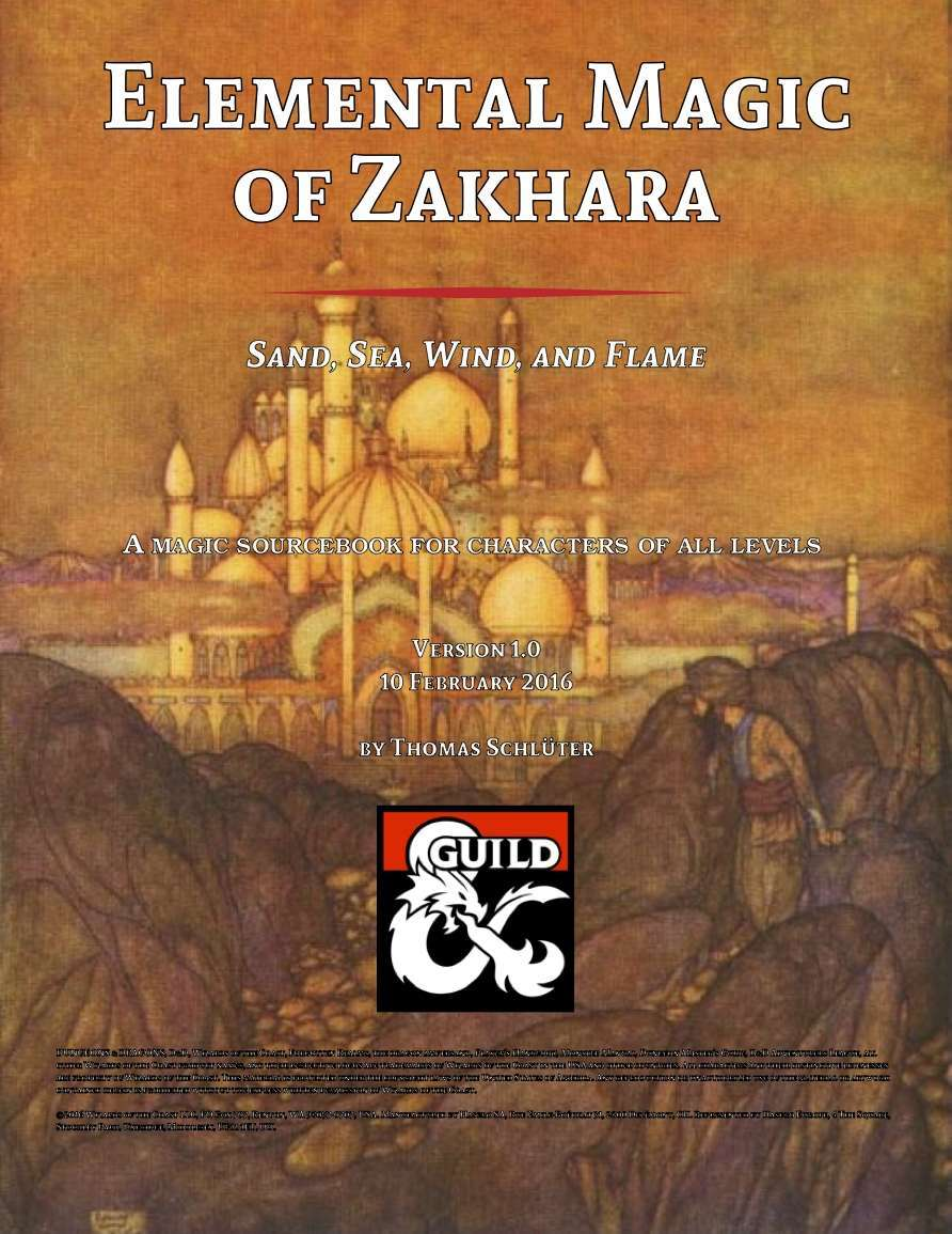Elemental Magic of Zakhara (Al-Qadim & Forgotten Realms) - Dungeon Masters  Guild | Wargame Vault