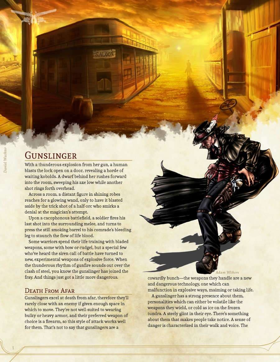 Homebrew Gunslinger Class Dungeon Masters Guild Dungeon Masters