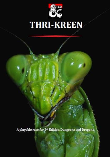 Thri Kreen A Playable Race For 5th Edition Dungeon Masters Guild