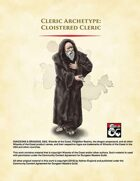 Cloistered Cleric Archetype