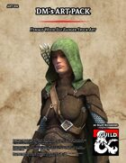 ART002 Female Wood Elf Ranger Stock Art