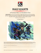 Half-Giants: Player Race