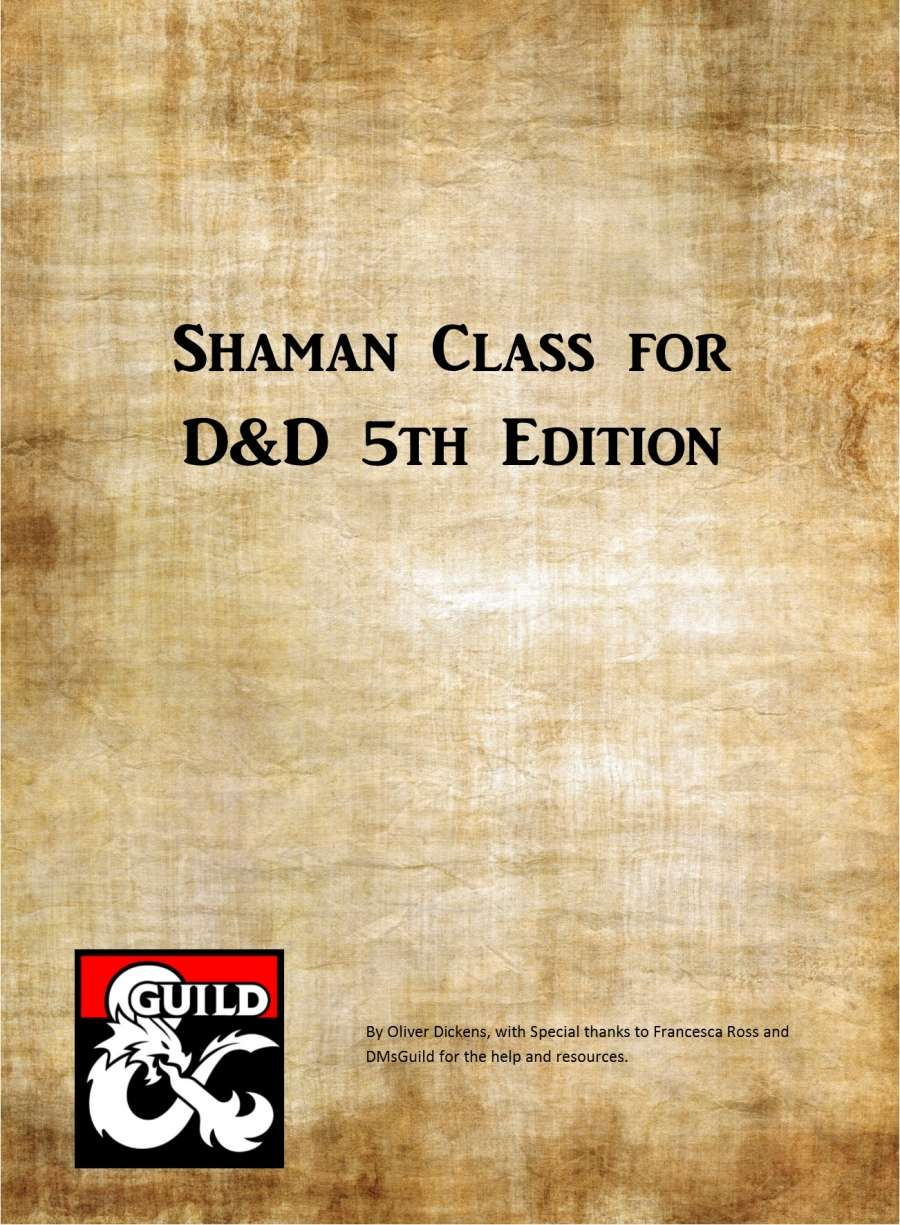 Shaman Class for D&D 5E - Dungeon Masters Guild | Dungeon