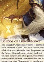 Wizard Tradition - School of Chronomancy