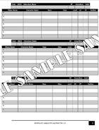 Adventurers League DM Log Sheet