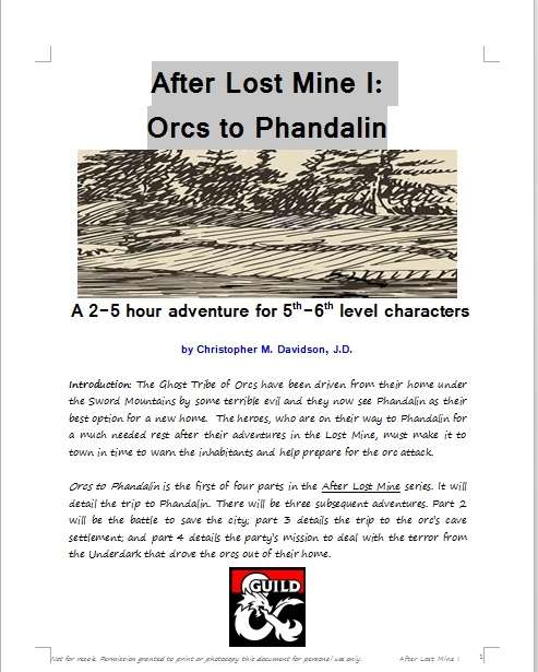 Cover of After Lost Mine I: Orcs to Phandalin