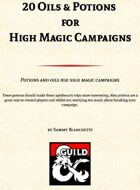 20 Oils and Potions for High Magic Campaigns