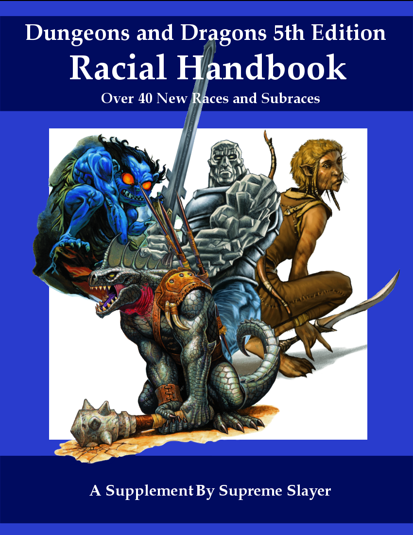 5e racial handbook over 40 new races and subraces dungeon masters guild dungeon masters guild. Black Bedroom Furniture Sets. Home Design Ideas