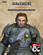 ART004 Female Mountain Dwarf Fighter Stock Art