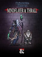 Mindflayer & Thrall Paper Miniatures