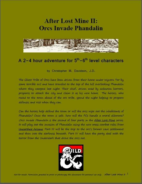 Cover of After Lost Mine II: Orcs Invade Phandalin