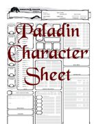 Paladin Character Sheet - Fillable
