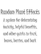Random Plant Effects