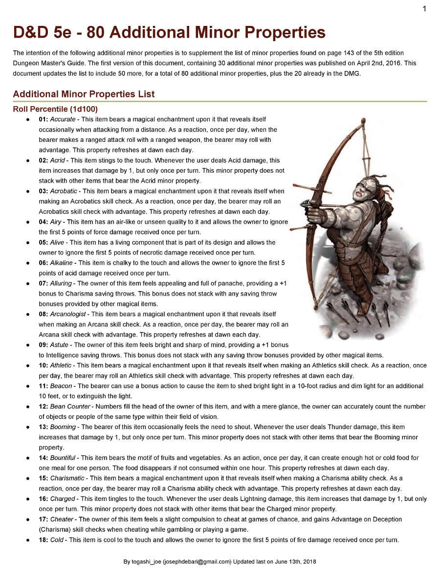 weapons of legacy 5e pdf