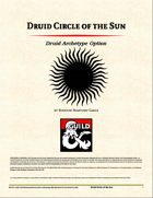 Druid Archetype - Circle of the Sun