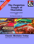 Classic Modules Today: WG4 The Forgotten Temple of Tharizdun (5e)