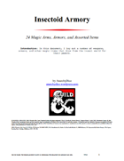 Insectoid Armory