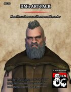 ART234 Male Human Barbarian (Northlands) Stock Art