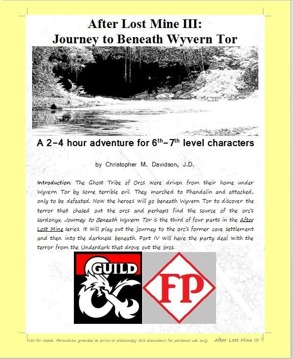 Cover of After Lost Mine III: Journey to Beneath Wyvern Tor