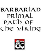 Barbarian Primal Path of the Viking