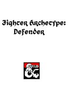 Fighter Archetype: Defender