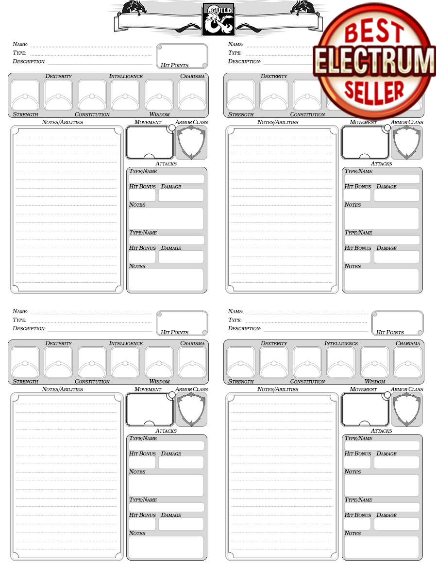 Favored Forms/Companion Sheet - Dungeon Masters Guild | Dungeon